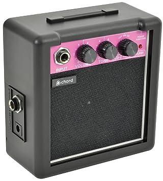 Mini amplificador para guitarra CG-2 a pilas. Con control de volumen, tono