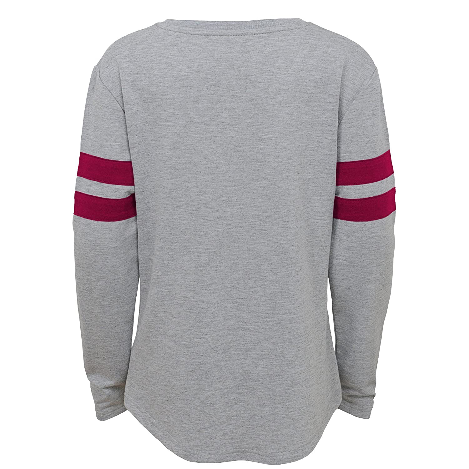 Heather Grey Outerstuff NCAA Florida State Seminoles Youth Girls Field Armor Dolman Sleeve Top 14 Youth Girls Large