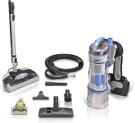 lux.pro Aspirador Dorsal para Limpiar la Alfombra con una Boquilla eléctrica Gris: Amazon.es: Hogar
