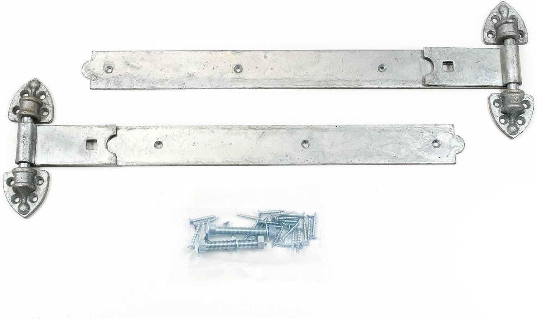 """reversible hinges heavy duty for gates /& doors 24/"""" in galvanised pack 1 pair"""