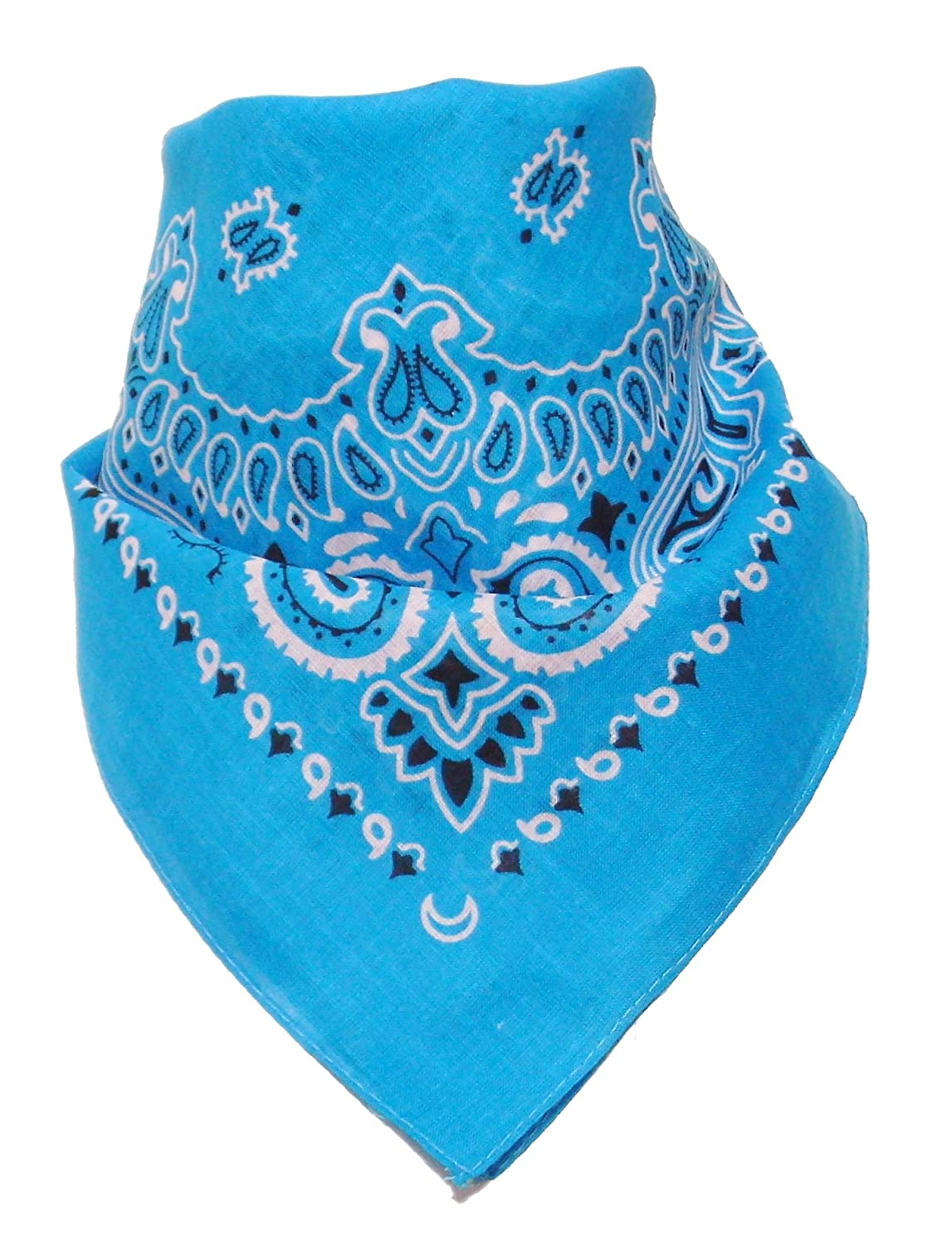 Bandana with original Paisley pattern in turquoise