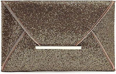Women Glitter Sequins Handbag Party Evening Envelope Clutch Bag Wallet Purse