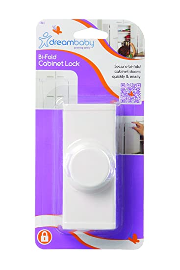 Amazon.com : Dreambaby Bi Fold Door Lock, White : Baby