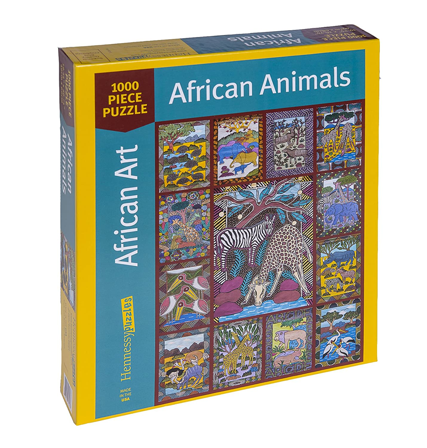 1000 Piece Bright African Animals Jigsaw Puzzle Colorful Puzzle Wild Anima/& Zimbabwe Wall Art Hennessy Puzzles SG/_B00SS06HC4/_US