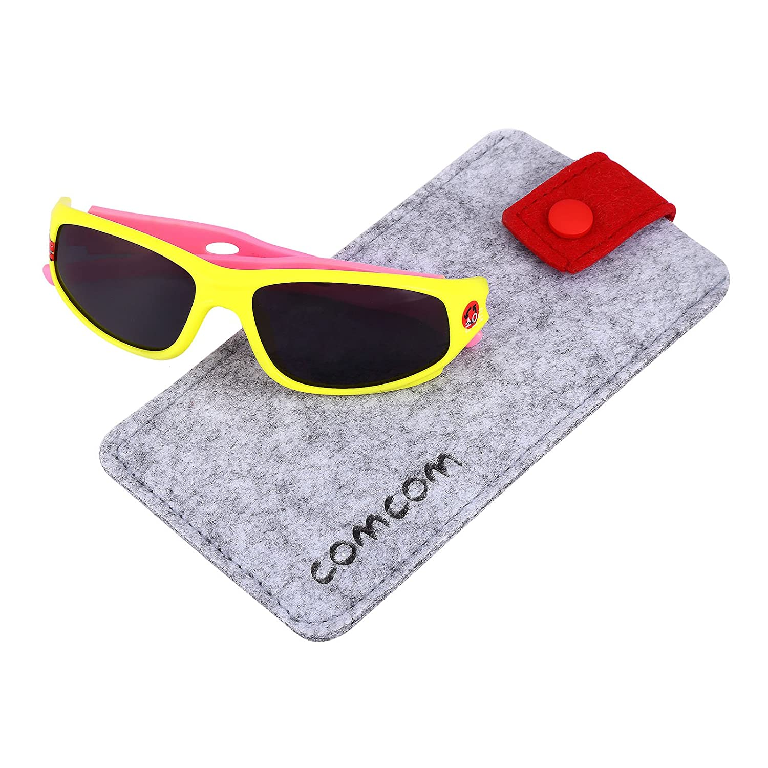 Kids Sports Style Polarized Sunglasses Rubber Flexible Frame For Boys And Girls Age 3-10