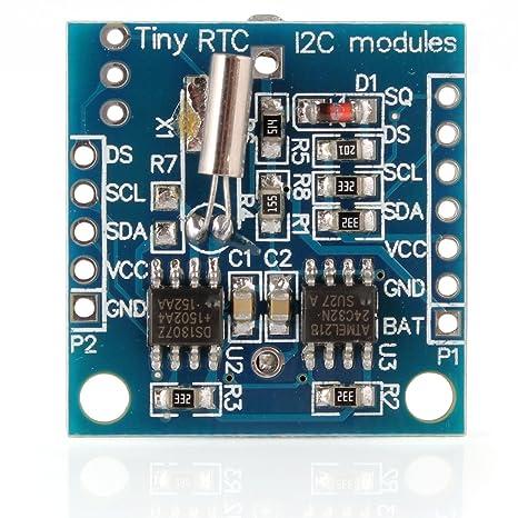 WINGONEER Tiny RTC I2C DS1307 AT24C32 Tiempo real módulo de reloj para Arduino AVR ARM PIC