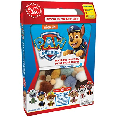 Klutz Jr. My Paw Patrol Pom-Pom Pups Craft Kit: Toys & Games