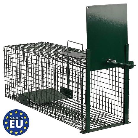 Moorland Trampa para Animales Vivos Safe 5001-Martas-Trampa de Alambre de 60x23x23cm-Resistencia a la Intemperie, black1