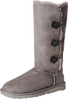 amazon com ugg women s bailey button triplet black 5 m us boots rh amazon com