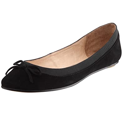Buffalo Damen Schuhe Ballerinas Slip On Slipper Suede Leder Beige 207-3562