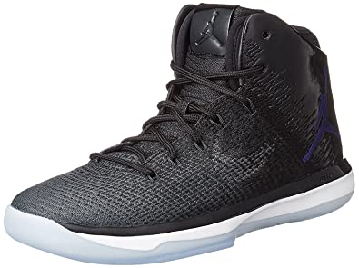 e116d685c78925 Nike Mens Air Jordan XXXI Basketball Shoes Black Concord Anthracite White  845037-