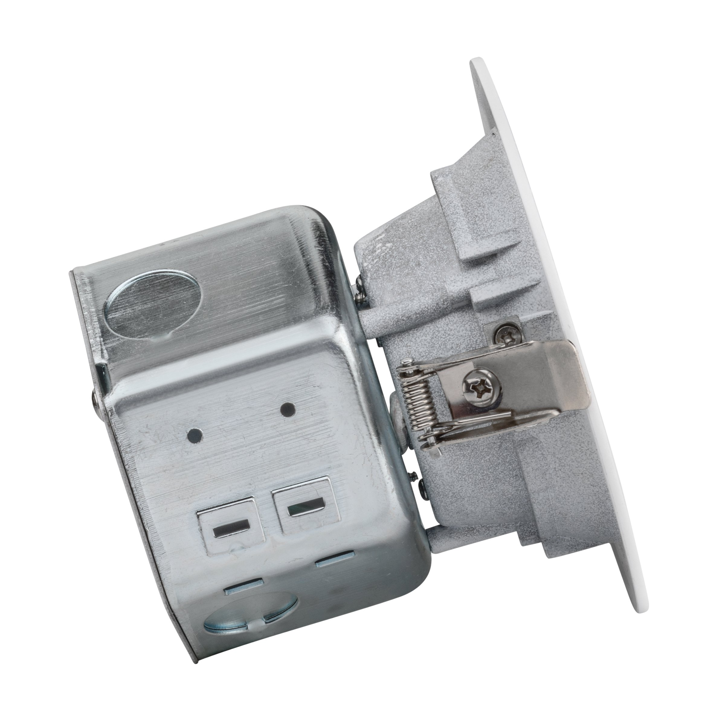 LEDQuant 4 Inch Junction Box LED Downlight, 10W (60W Equivalent), 3000K Soft White, ENERGY STAR, 700 Lumens, Wet Rated, Recessed Ceiling Light, 120V, No Can Needed, ETL Listed (3000K (Soft White)) by LEDQuant (Image #2)