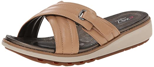 Easy Spirit Women's Catrona Platform Sandal, Medium Natural Leather, ...