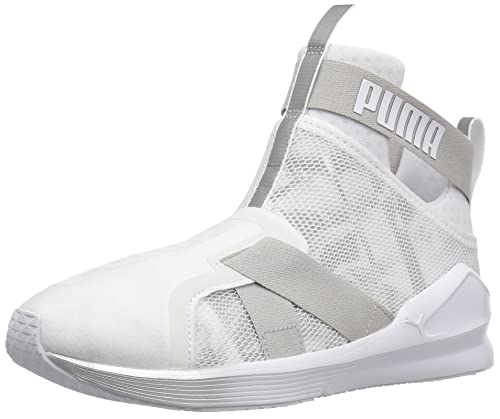 Calzado Fierce Strap Swan WN Cross-Trainer para mujer, Puma White-Puma White, 9.5 M US