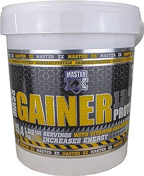 Master ZX | GAINER 12% - Mass Gainer 12% de Proteina - Incrementa la masa muscular, alto contenido en vitaminas y minerales -(Doble Chocolate)