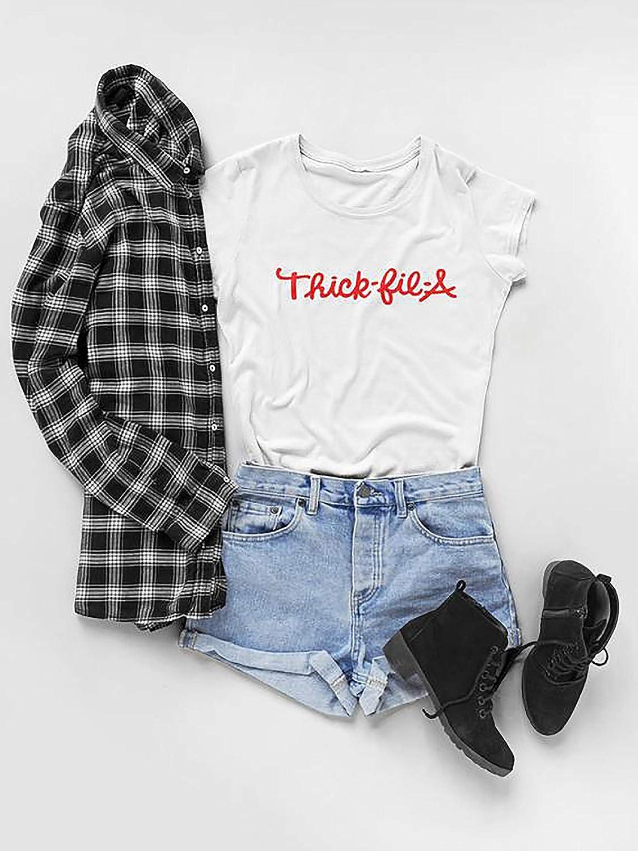 Thick-fil-a T Shirt a Cute Fun Spin on Chick-fil-A