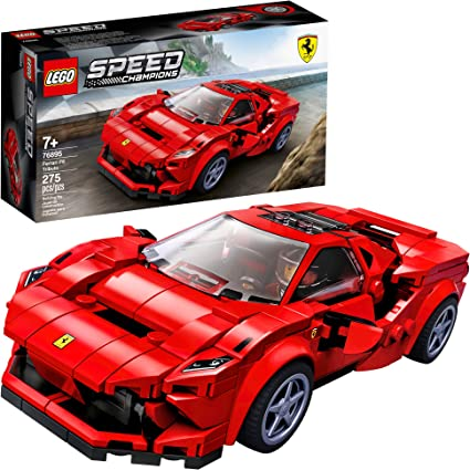 Amazon Com Lego Speed Champions 76895 Ferrari F8 Tributo Toy Cars For Kids Building Kit Featuring Minifigure New 2020 275 Pieces Toys Games