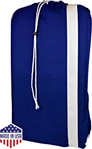 """Nylon Laundry Bag with reliable Shoulder Strap - 30"""" X 40"""" - 100% Nylon, for Heavy Duty Use, College Laundry Bags, Laundromat and Household Storage, machine washable - Made in the USA"""