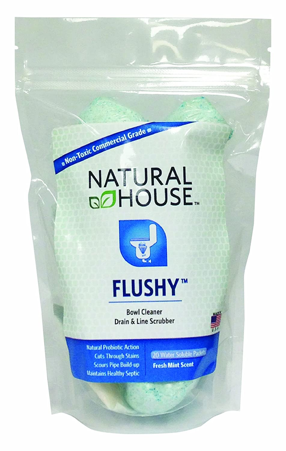 Amazon.com: Natural House Flushy - 20 Water Soluble Packets ...