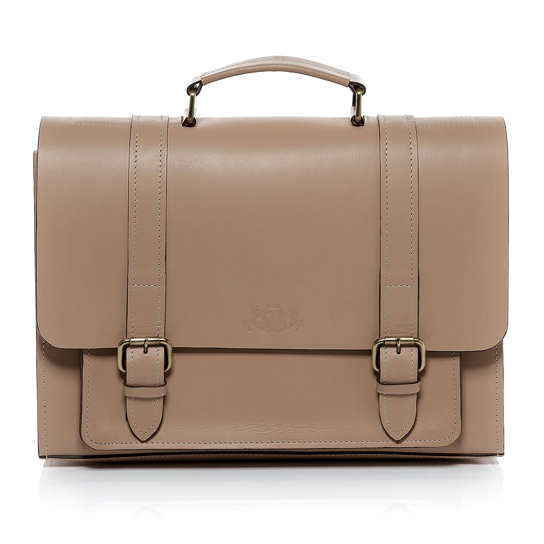 SID & VAIN Aktentasche Leder BRISTOL groß Businesstasche Herren 15 Zoll Laptop Bürotasche Laptoptasche herausnehmbare Schutzhülle bis 15, 4 Zoll echte Ledertasche Herrentasche braun