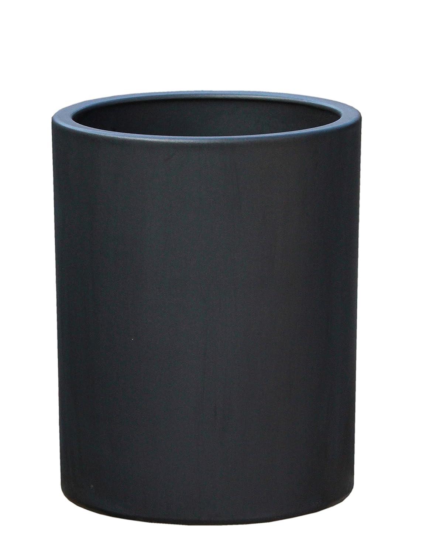 Großer Pflanztopf Pflanzkübel frostsicher rund Ø 36 x 46 cm, Farbe Anthrazit, Form 312.046.70 Blumenkübel für Draußen und Innen - Qualität von Hentschke Keramik