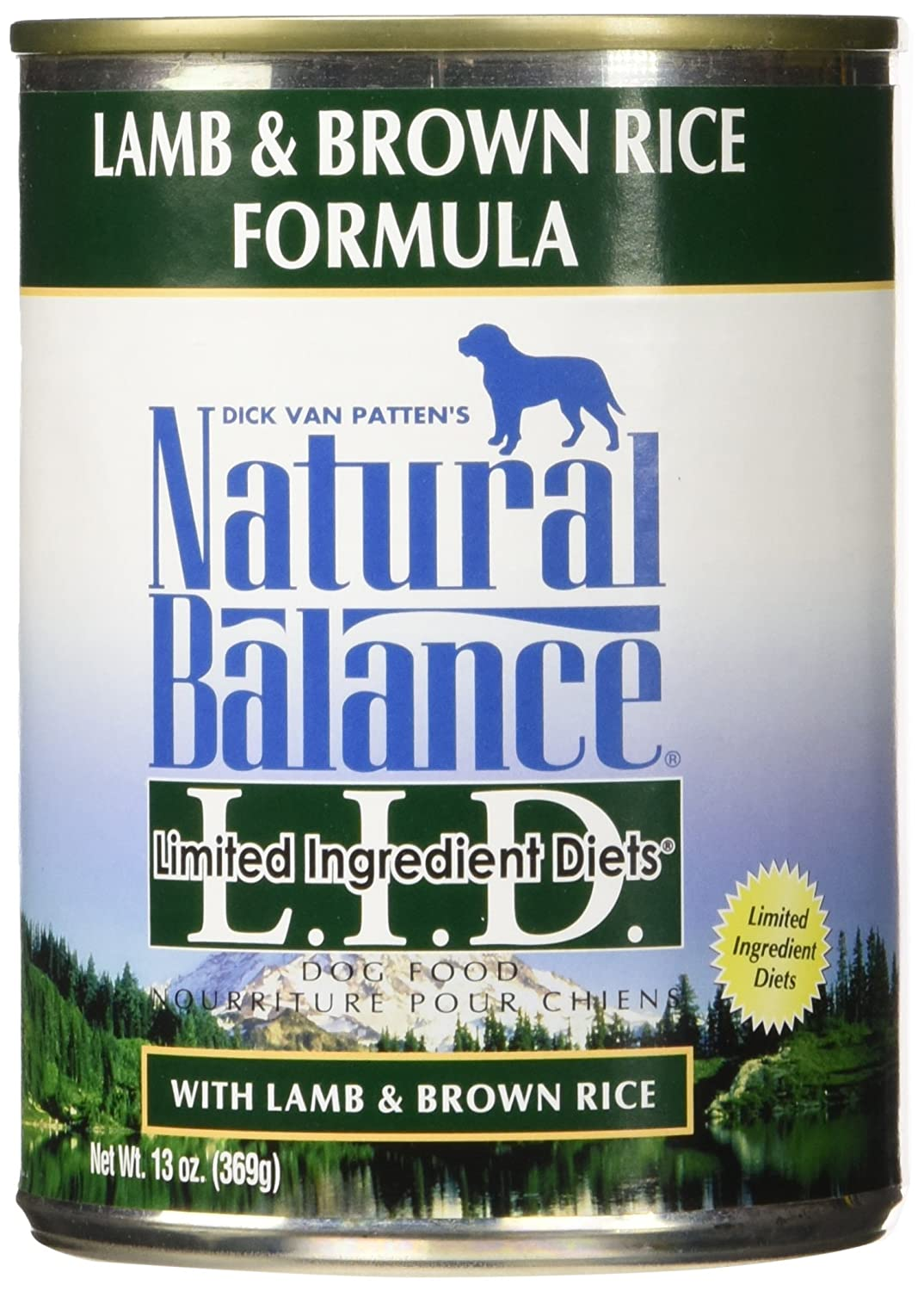Natural Balance Lamb Rice Formula Dog Food, 13 Oz, Pack Of 12
