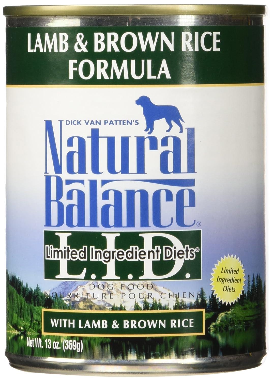 Natural Balance Lamb Rice Formula Dog Food, 13 Oz, Pack Of 12