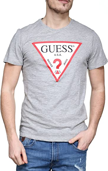 GUESS M82I42 K4Y10 Original Tee Camiseta Hombre Grey Heather ...