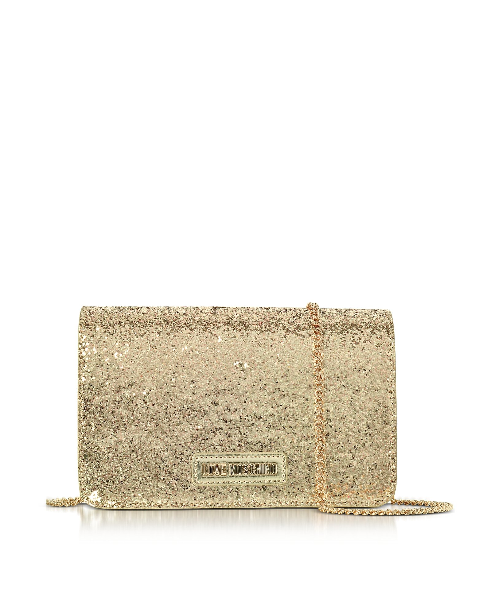 Love Moschino Women's Jc4091pp15ll0901 Gold Leather Shoulder Bag