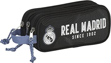 Real Madrid Estuche portatodo Triple (SAFTA 811757635), Color Negro, ampUacutenica: Amazon.es: Juguetes y juegos