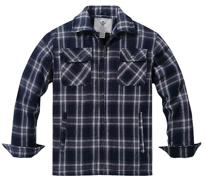 WenVen Camisa de Cuadros con Forro de Sherpa al Aire Libre para Hombre: Amazon.es: Ropa y accesorios