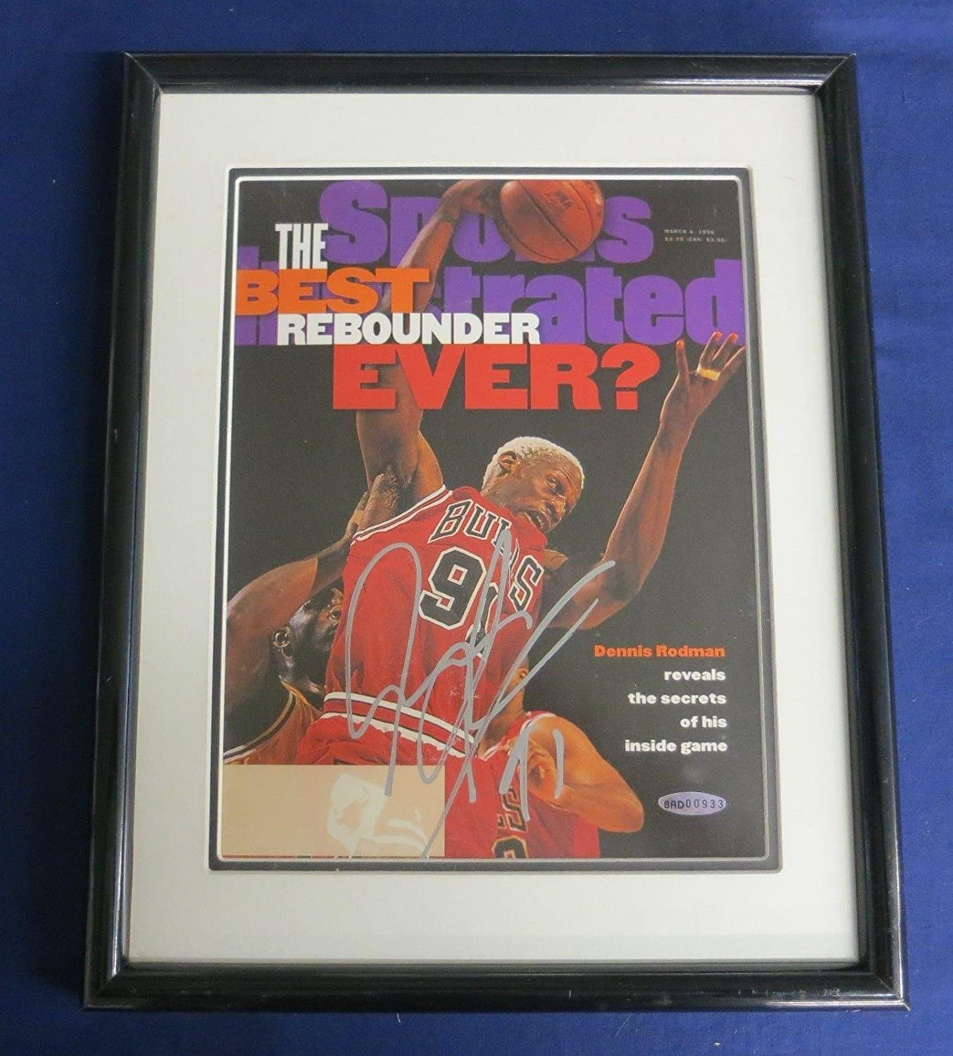 promo code b73f4 cb7bc Dennis Rodman Signed & Framed Sports Illustrated - () COA ...