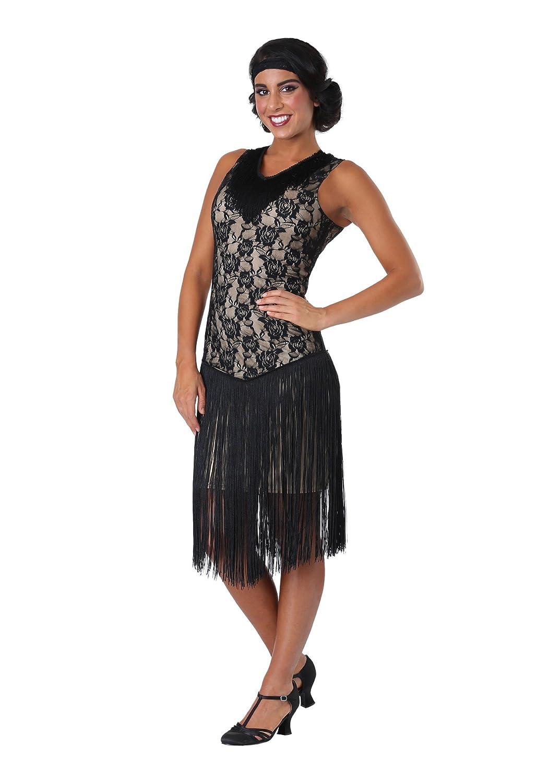 Frauen Speakeasy Flapper Plus Größe Kostüm - 2X