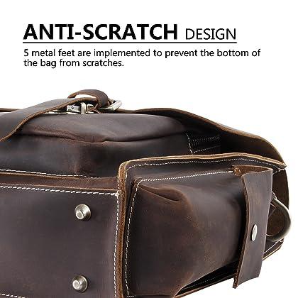 ... Lifewit Men s Leather Briefcase Laptop Bag Office Messenger Satchel  Shoulder Computer Bags Fit up to ... f896c3d591