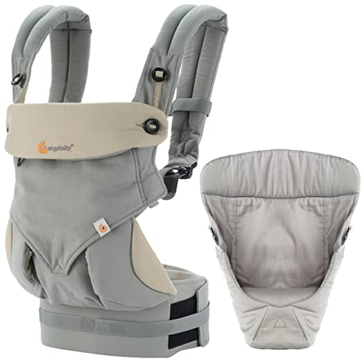 Amazon.com : Ergobaby 4 Position 360, Grey Carrier with Easy Snug Infant Insert, Grey : Baby