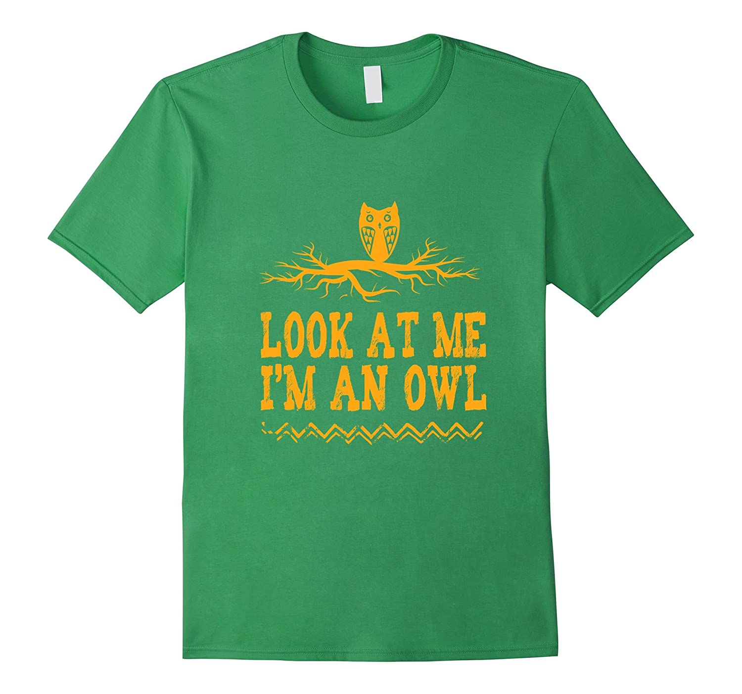 Funny Look At Me I'm An Owl T-shirt Halloween Costume Animal-FL