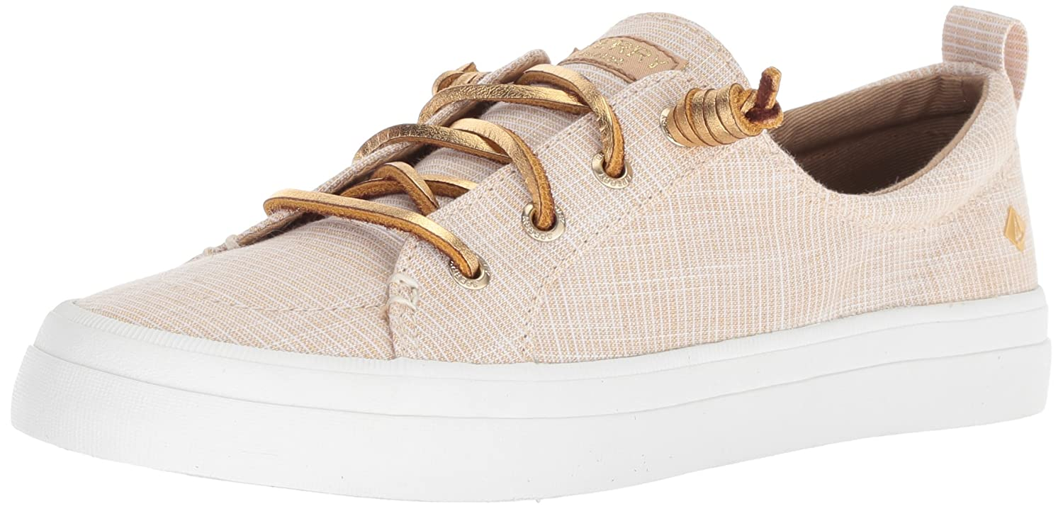 Amazon.com | Sperry Womens Crest Vibe Metallic Novelty Sneaker, Gold, 8.5 M US | Fashion Sneakers