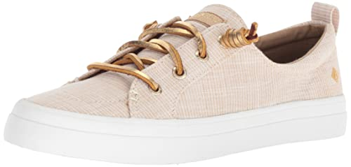 Amazon.com | Sperry Womens Crest Vibe Metallic Novelty Sneaker, Gold, 9 M US | Fashion Sneakers