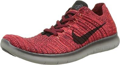 Nike Free Run Flyknit, Zapatillas de Running para Hombre, Rojo (Team Red/Black/Total Crimson/Dark Grey), 44 EU: Amazon.es: Zapatos y complementos