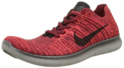 quality design bf406 e775c Nike Free RN Flyknit 831069-602 Red Black Grey Run Natural Men s Running