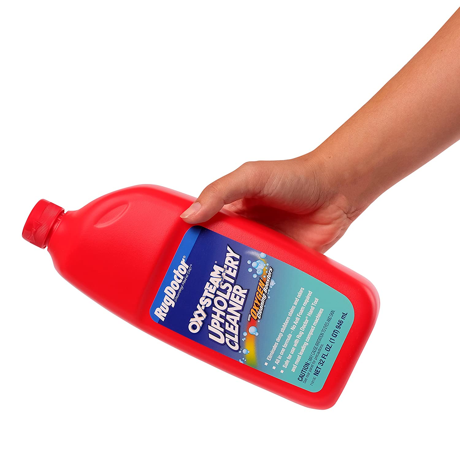 Amazon.com: Rug Doctor Oxy Steam Upholstery Cleaner Solution, Deep Cleans  And Extracts Stains And Dirt From Upholstery And Soft Surfaces, 32 Oz.