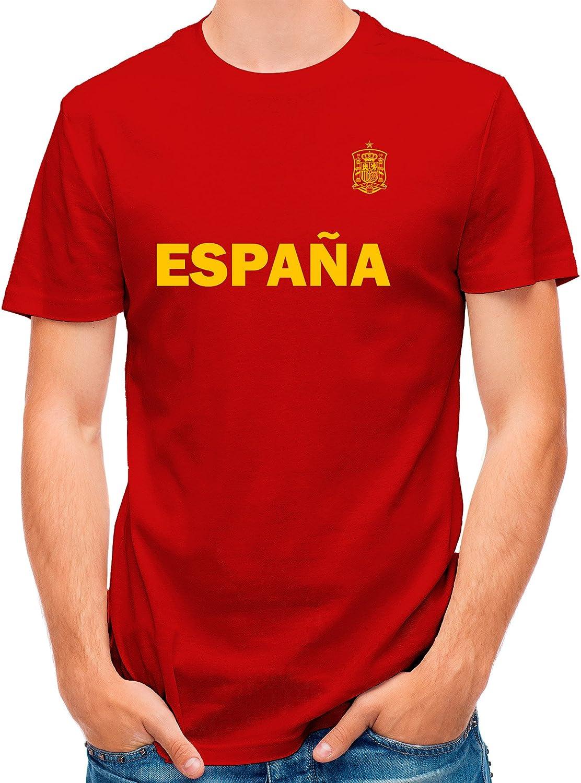 LolaPix Camiseta España Personalizada con tu Nombre y Dorsal | Selección Española | Varios Diseños Tallas | 100% Algodón | Hombre | Roja: Amazon.es: Hogar