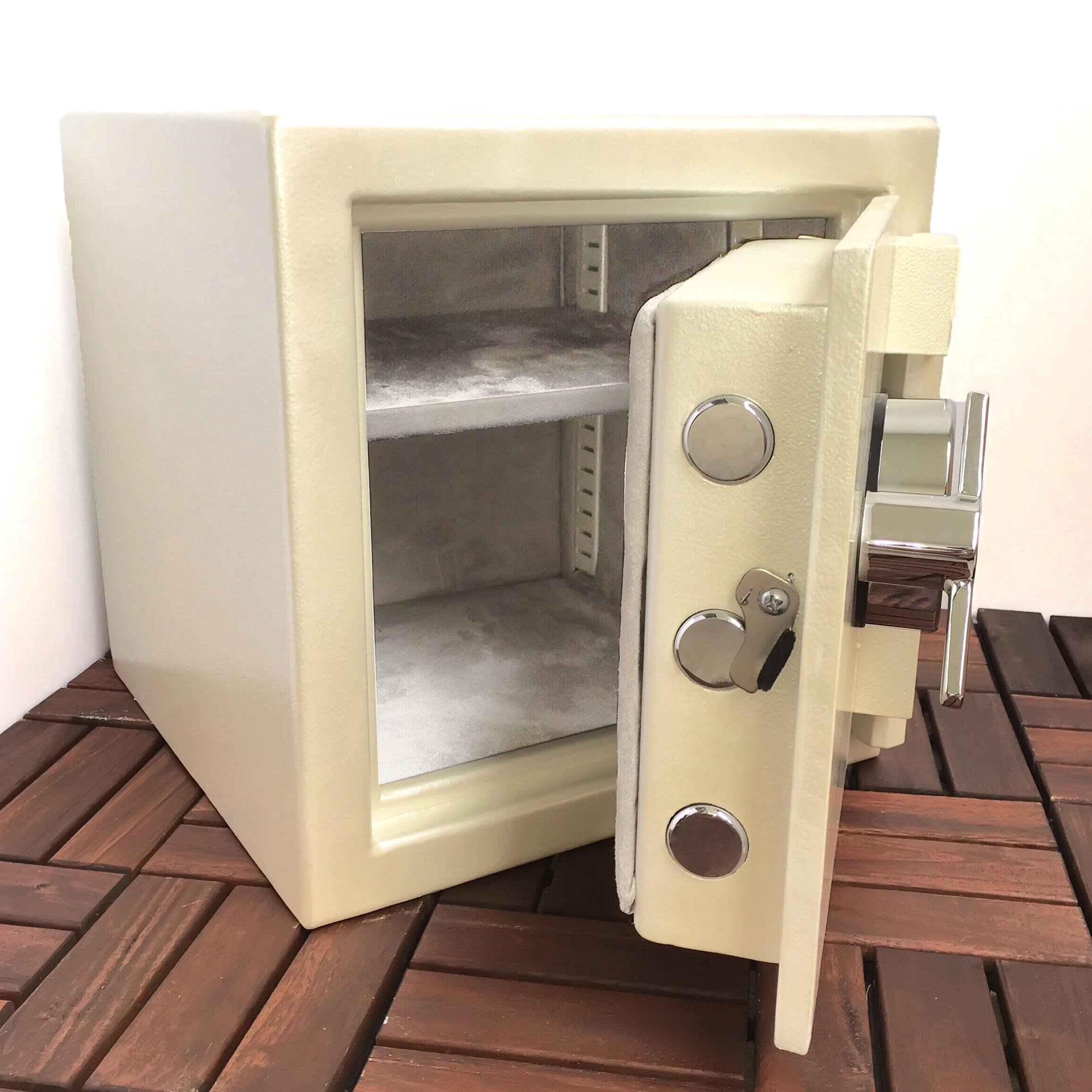 The Cube Personal Jewelry Watch Gun Safe By Apex Safes (Pearl Mist)