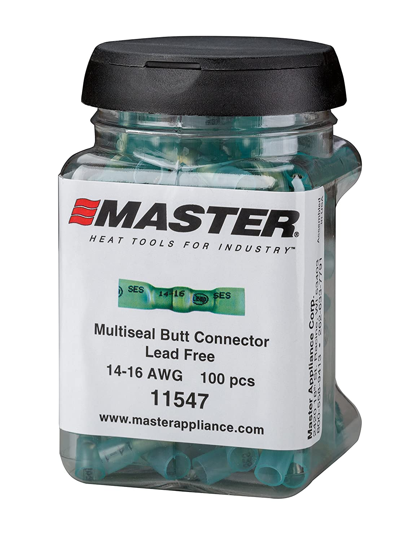 10-12 AWG 60 Pcs Master Appliance 11542 Proseal Butt Splice Connector Jar