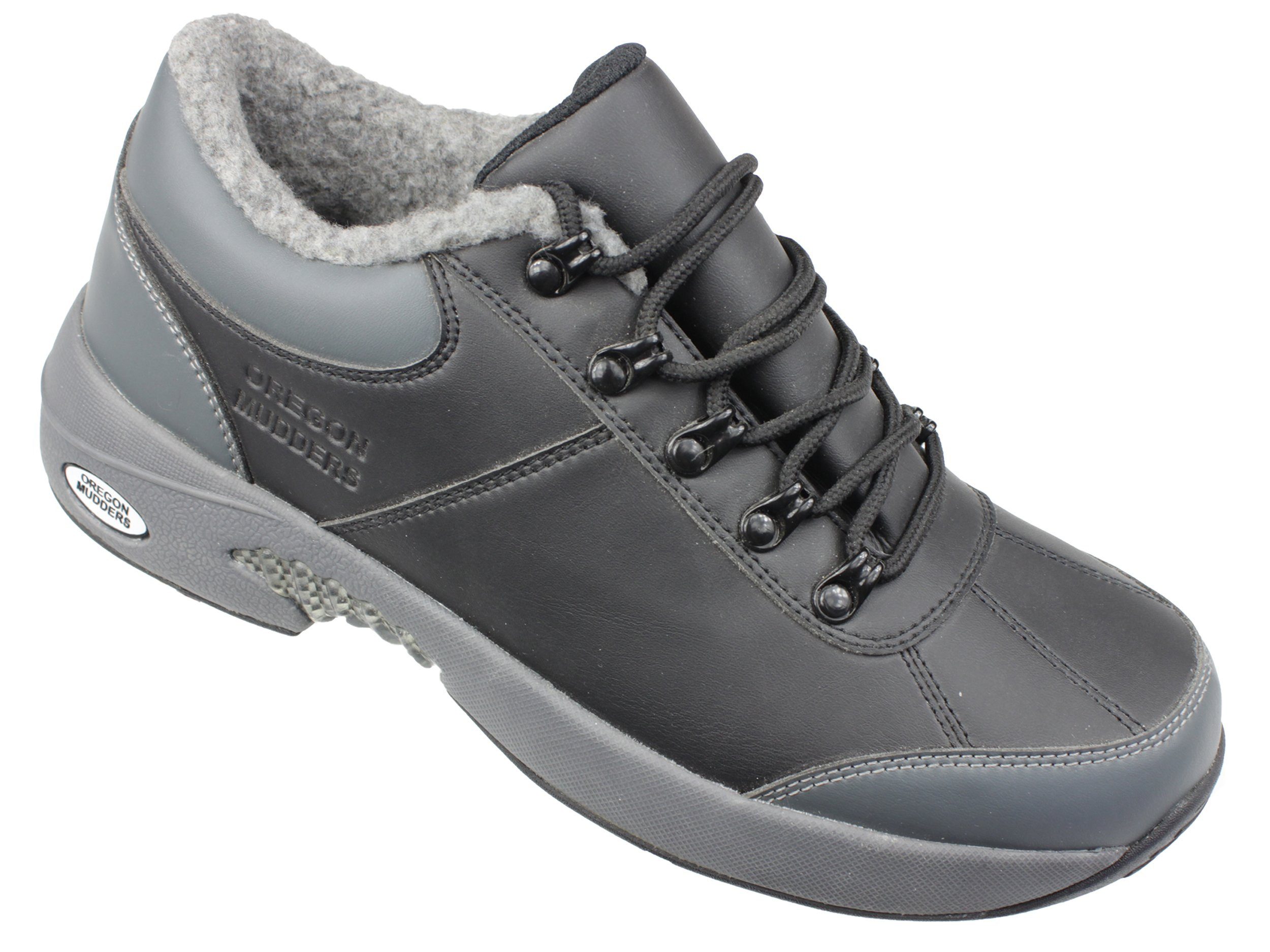 Oregon Mudders Mens CM400N Waterproof Oxford Golf Shoe with Turf Nipple Sole 10.5M US Mens Grey by Oregon Mudders