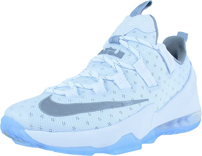97e25ab46d1e NIKE Men s Lebron XIII Low White 831925-100 (Size  ...
