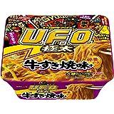 日清焼そばU.F.O.ビッグ極太 牛すき焼味+卵黄ソース 159g×12個