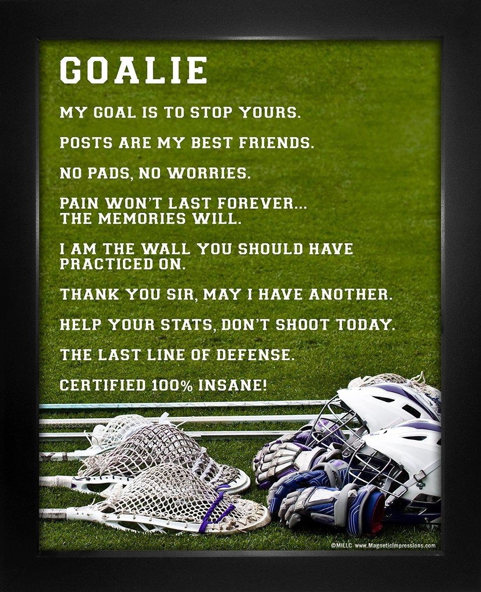 """Framed Lacrosse Goalie 8"""" x 10"""" Sport Poster Print"""