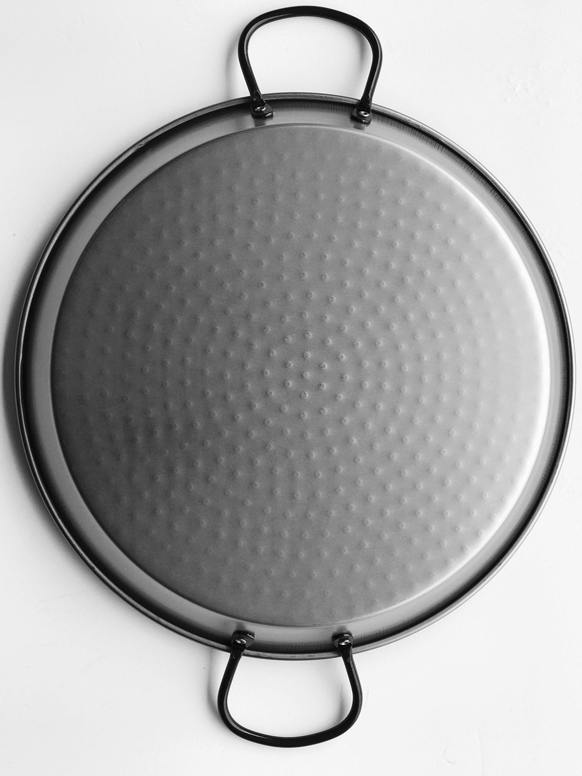 Polished Steel Valencian paella pan 26Inch / 65cm / 25 Servings