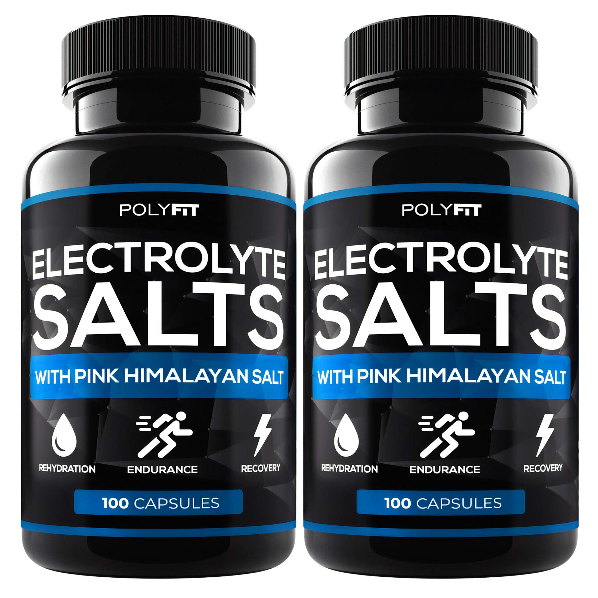 (2 Pack | 200 Salt Pills) Salt Tablets Electrolyte for Runners by Polyfit